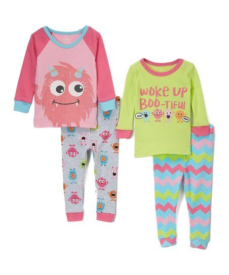 adfed181c587 Candlesticks Rose   Lime Monster Pajama Set - Infant