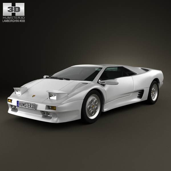 Lamborghini Diablo VT 1993 3d model from humster3d.com. Price: $75
