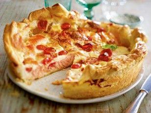 Italienische Lachs-Mozzarella-Quiche Rezept