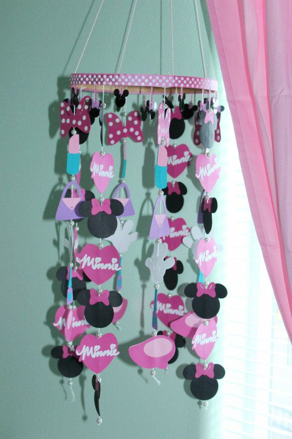 Minnie Mouse Paper Mobile Nursery Room Decor By Jennmakesitcute