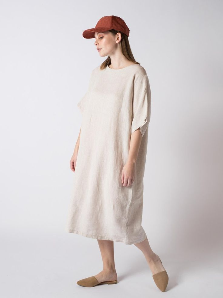BLANK DRESS NATURAL #sibedthreads #sibedclothing #linen #madeinNewZealand #womansclothing