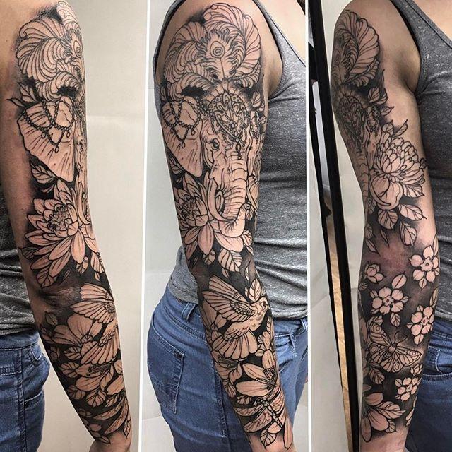 Circus Elephant Tattoos on Pinterest Cow Tattoo