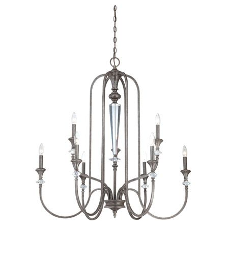 Craftmade 26729 mbs boulevard 9 light 37 inch mocha bronze and silver accents chandelier ceiling light