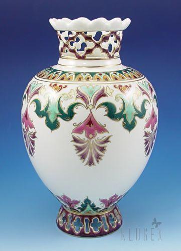 Openwork-Zsolnay-Vase-Signed