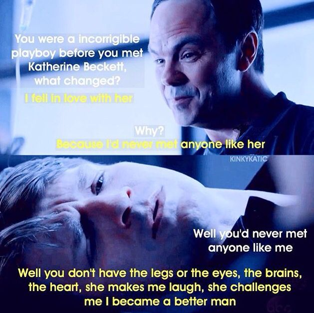 Castle on why he fell in love with Beckett