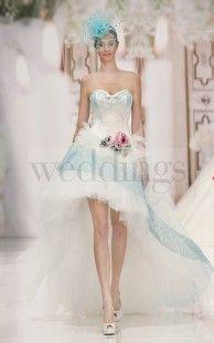 Weddings Luxury | Il Portale del Wedding in Italia - Sposa 2014. Tendenze moda. Giovane, allegro, sbarazzino, ma assolutamente bon ton l'abito da sposa corto di Atelier Aimèe Montenapoleone.