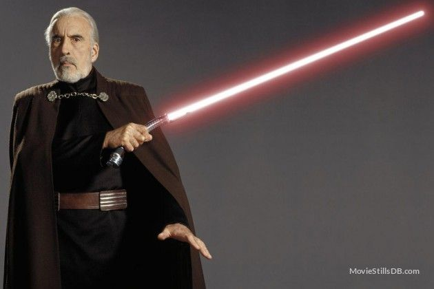 Star Wars: Episode II - Attack of the Clones - Promo shot of Christopher Lee