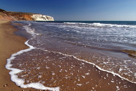 Sandown Bay, one of the most popular beaches on the island. #isleofwight #iw #iow