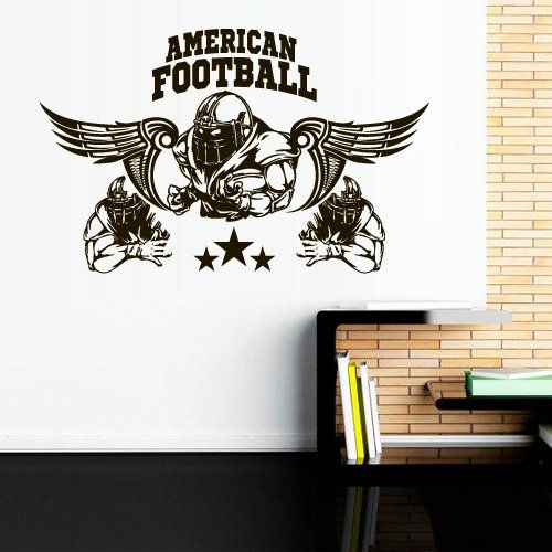 Wall Decal American Football Rugby Sport Helmet Play Man Ball rugby kids M1732. Thank you for visiting our store!!! Please read the whole description about this item and feel free to contact us with any questions! Vinyl wall decals are one of the latest trends in home decor. Vinyl wall decals give the look of a hand-painted quote, saying or image without the cost, time, and permanent paint on your wall. They are easy to apply and can be easily removed without damaging your walls. Vinyl…