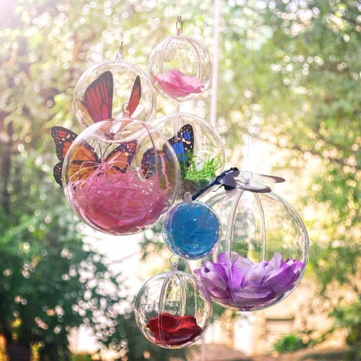 10pcs clear plastic ball for christmas tree decoration hanging acrylic transparent ball candy box