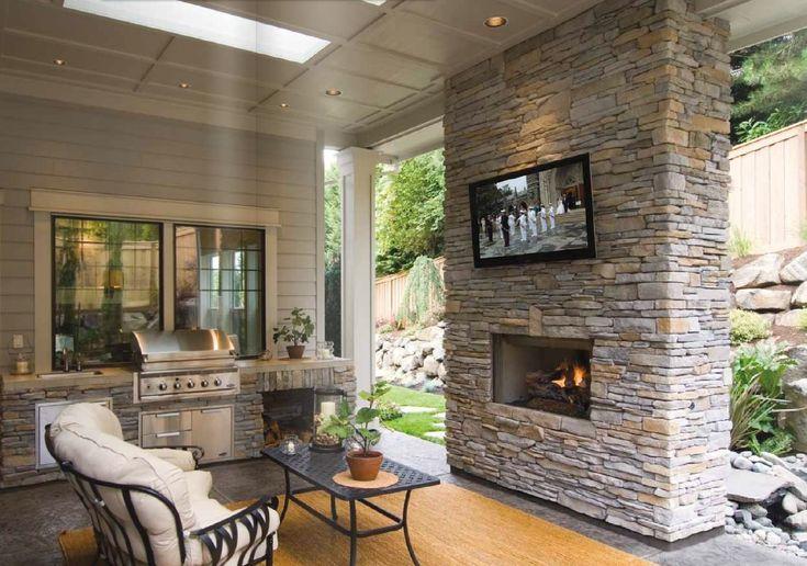 Southern Ledgestone - Echo Ridge on the fireplace | Cottage Ideas ...