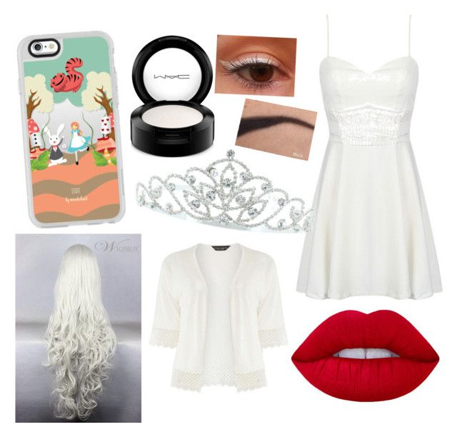 """The White Queen"" by dreamygal789 on Polyvore featuring Casetify, Lime Crime, MAC Cosmetics, Kate Marie and Dorothy Perkins"