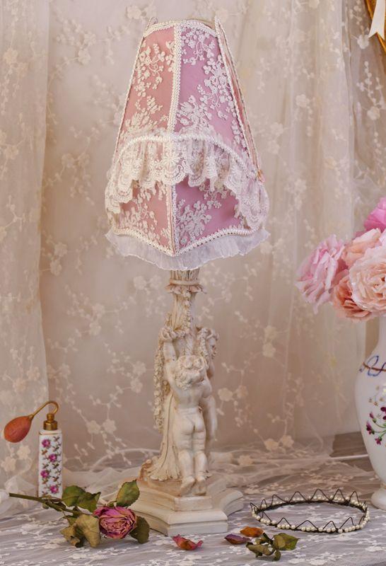 25 best pied de lampe et son abat-jour shabby chic images on ...