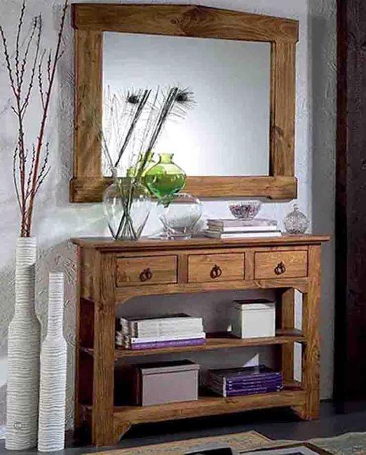 Consolas de madera de pino arabic tiendas decoracion for Decoracion en madera para el hogar