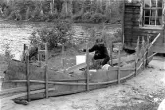 Algonquin canoe maker