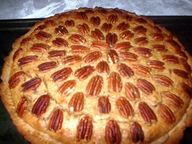Tarta orgánica de nuez pecana y boniato (o camote)