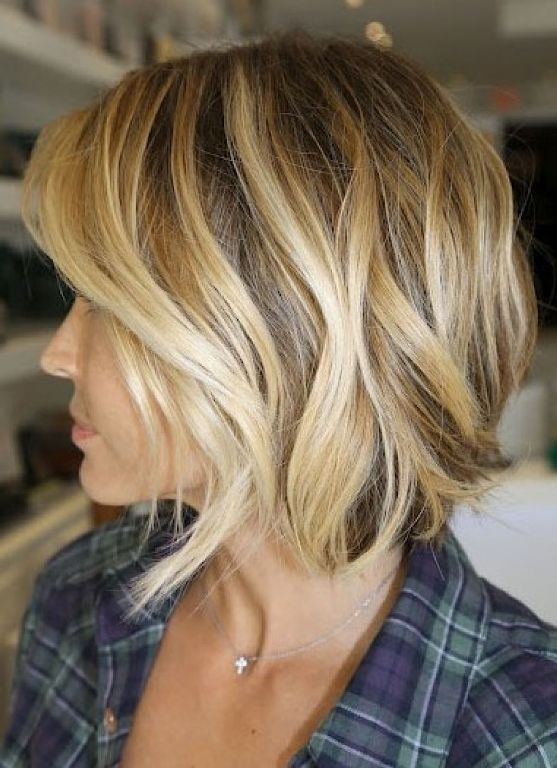 Image result for long bob with highlights beach