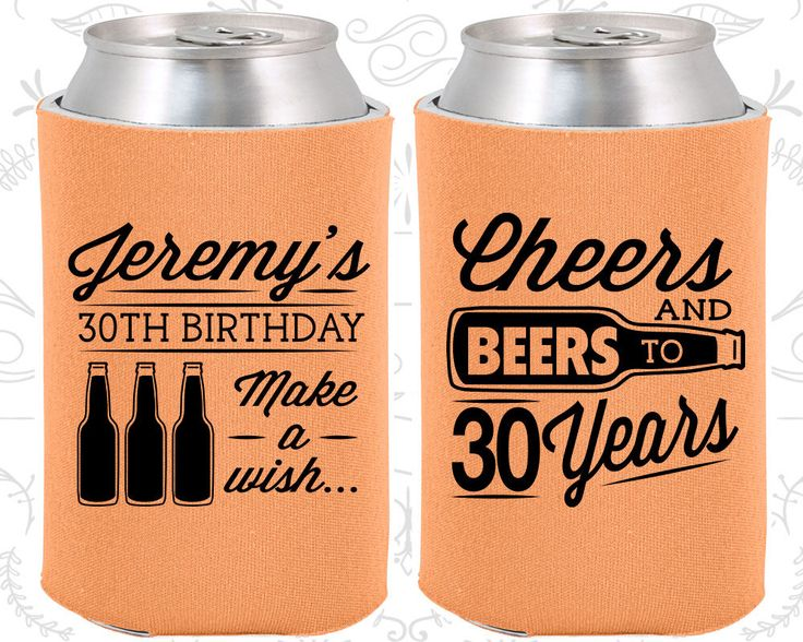 30th Birthday (C20076) 30th Birthday Favors, Personalized Party Favors, Cheers to 30 Years, Cheers and Beers, Birthday Party Favors by MyWeddingStore on Etsy https://www.etsy.com/listing/478824265/30th-birthday-c20076-30th-birthday