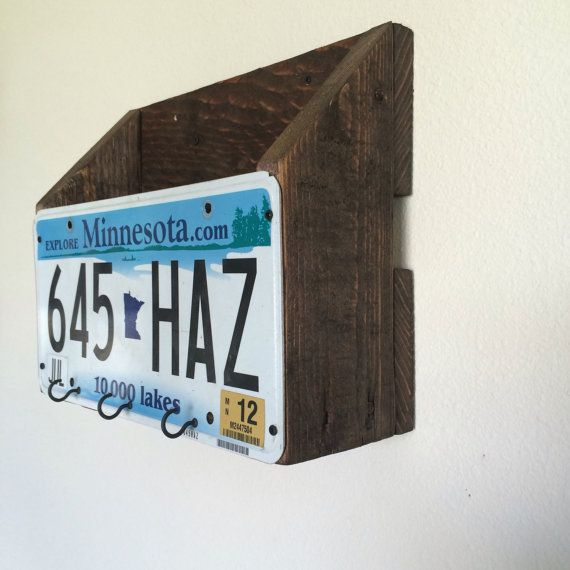 Mail and key rack Rustic magazine key and mail by ABCwoodworkings