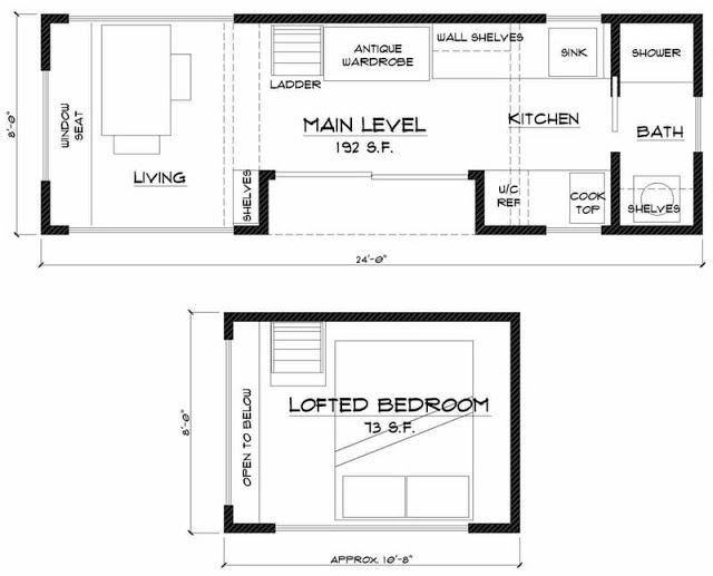 exemple de plan de tiny house green glam mini maison pinterest exemple et plans. Black Bedroom Furniture Sets. Home Design Ideas