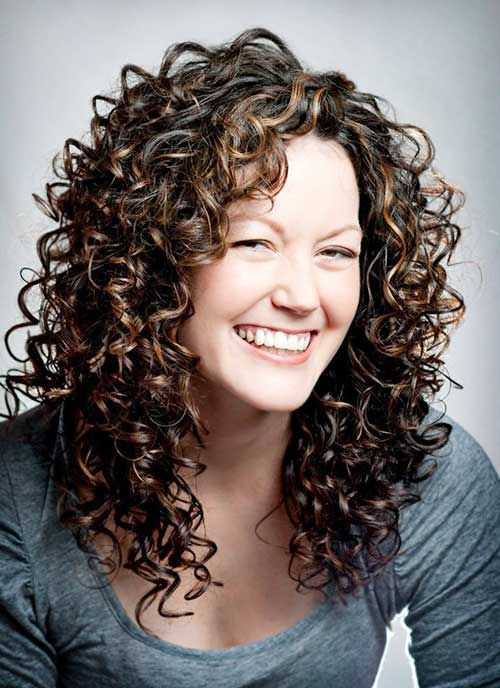 Trendy Layered Long Curly Hair