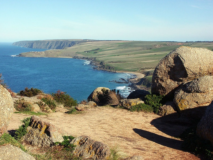 Victor Harbor Bluff view west - on the coast of the Fleurieu Peninsula, about 80 km south of Adelaide, South Australia