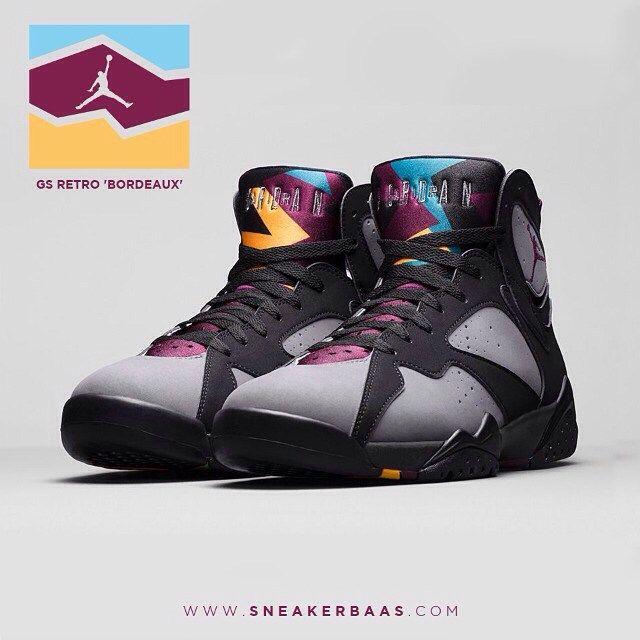 """#jordanvii #jordanladies #chicksonkicks #jordanladies #airviiretro #sneakerbaas #baasbovenbaas  Air Jordan VI GS Retro """"Bordeaux"""" - Shop now!"""