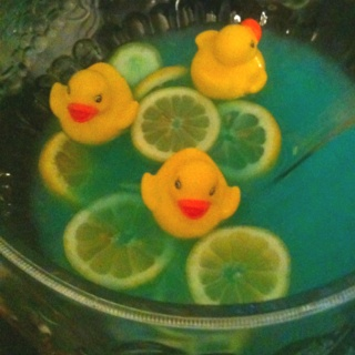 floating duck punch for baby shower