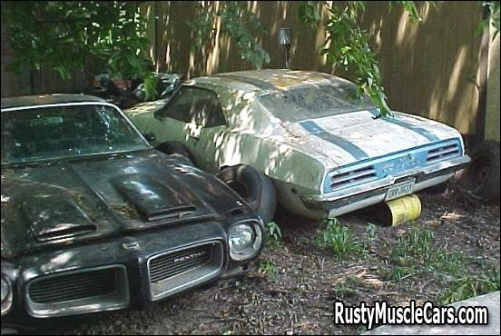 69 TA and a 71 formula 455-HO ram air car - Rusty muscle car photos and project muscle cars for sale at RustyMuscleCars.com