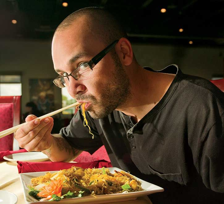 Rooster and the Till's Ferrell Alvarez loves the Singapore noodles from Yummy House | South Tampa Magazine |