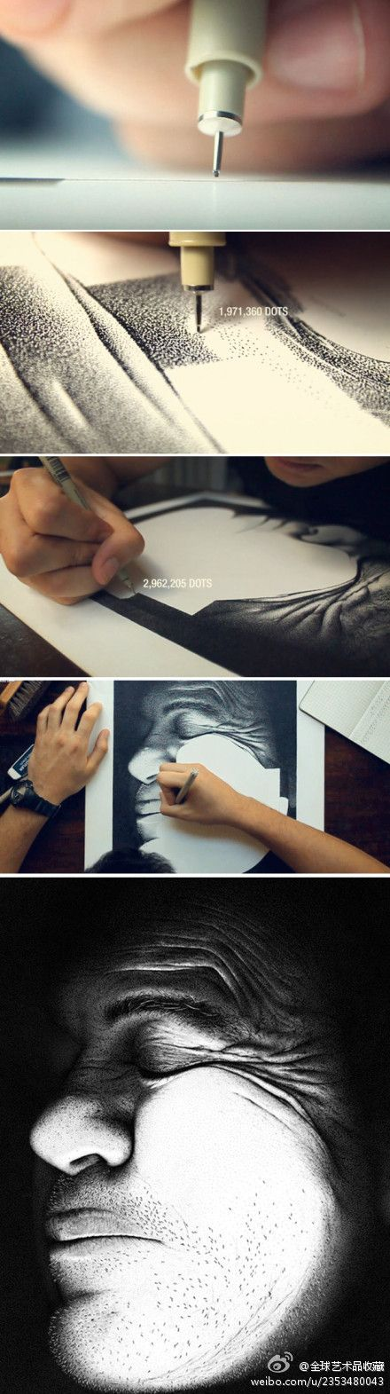 dot-painting [Hero] by Miguel Endara - 210 hours, 3.2million dots