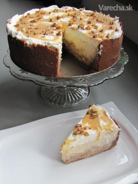 Karamelovo-jablkový cheesecake (fotorecept)