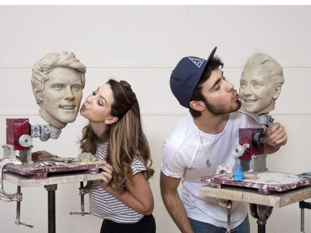 Zoella and boyfriend Alfie Deyes met their waxwork figures at Madame Tussauds!