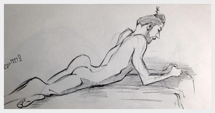 15 minute stylized sketch.
