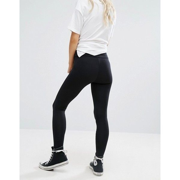 New Look Petite High Waisted Leggings ($12) ❤ liked on Polyvore featuring pants, leggings, petite leggings, elastic waist pants, legging pants, petite pants and high rise pants