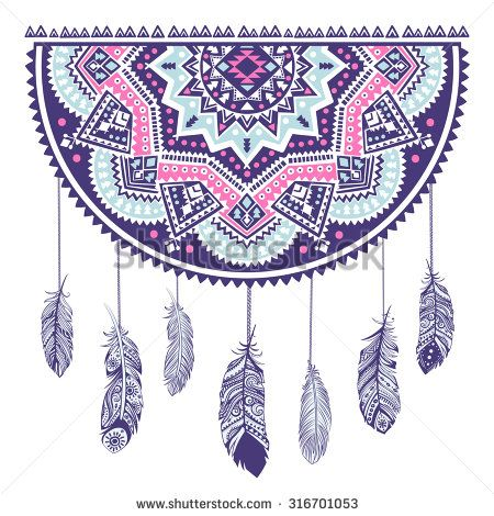 56 best native american greeting cards images on pinterest ethnic american indian dream catcher can be used as a greeting card stock vector m4hsunfo