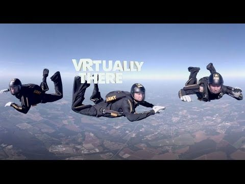 VR parachuting with the US Army Golden Knights