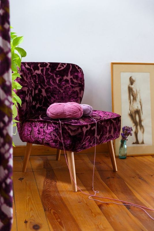 Chubby Chair from Photoliu upholstered in Designers Guild fabric. The most comfortable thing ever! Shop at: http://shop.photoliu.com/