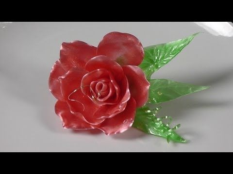 ▶ How to Make Flowers With Pull Sugar-Rose Made out of Sugar-How to and Recipe - YouTube