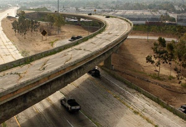 "Los Angeles' highway system post-apocalypse as depicted in History Channel's ""Life After People."""