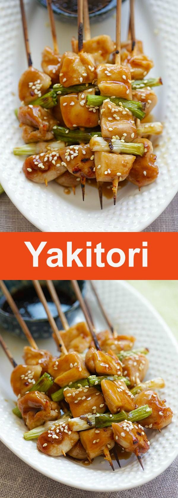 Yakitori – Yakitori is Japanese grilled chicken skewers. Learn how to make them with this easy Yakitori recipe that takes only 15 mins | rasamalaysia.com