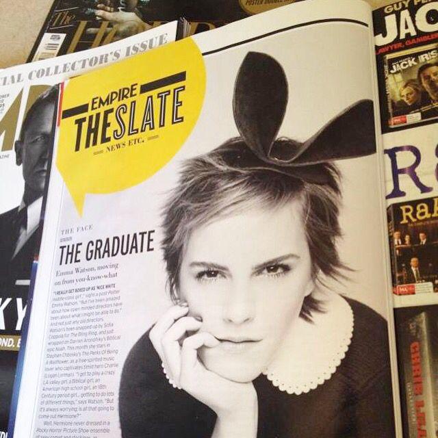 Magazine layout I designed for Empire Magazine featuring Emma Watson.