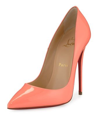 So+Kate+Patent+120mm+Red+Sole+Pump,+Flamingo+by+Christian+Louboutin+at+Neiman+Marcus.