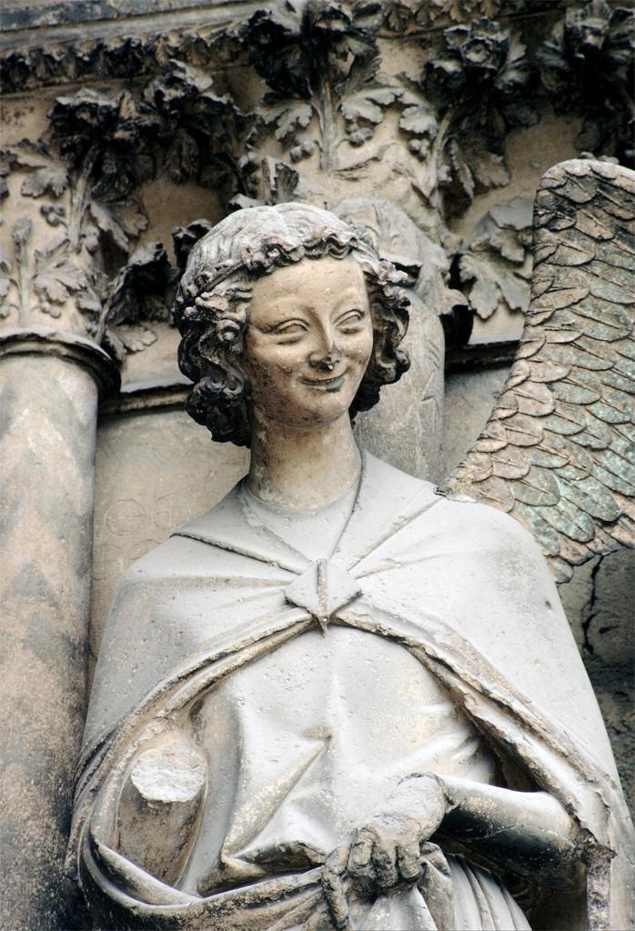 The Smiling Angel, Reims, France