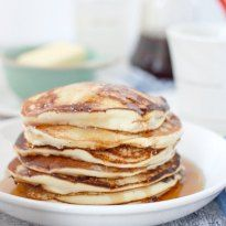 Extremely light and airy pancake recipe without baking powder! The pancakes are made by folding a simple meringue into the batter. This recipe requires no-baking powder or baking soda andcan be whipped together in minutes!…