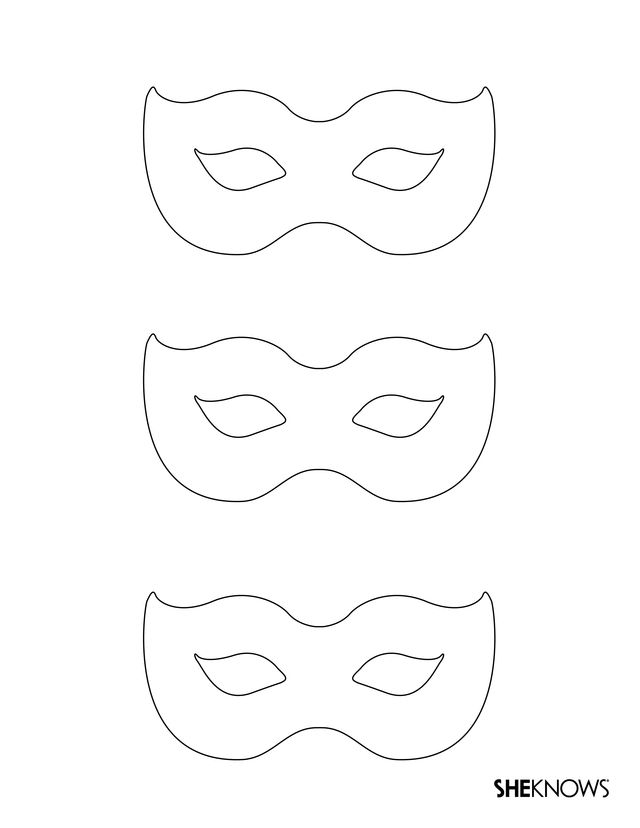 Masquerade Masks - Free Printable Coloring Pages