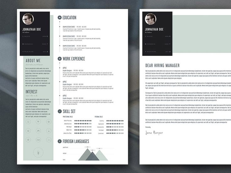 Free Flat Resume Template with Cover Letter