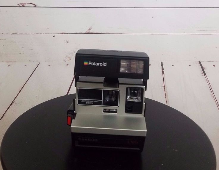 Vintage Polaroid Sun 600 LMS Instant Land Camera with Strap Not Tested  #Polaroid