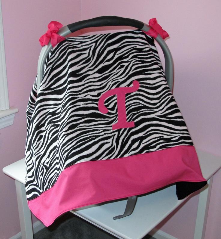 Pink Zebra Print Infant Car Seat