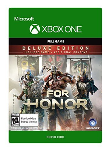 For Honor: Deluxe Edition (Includes Extra Content) - Xbox One Digital Code  Dominate the battlefield faster and in brutal style with the For Honor Deluxe Edition which includes the base game + Deluxe Pack.  The Deluxe Pack includes the Special Execution Sunbeam Effect, three unique helmet crests, 3 emblems, and 7 days of Champion Status.  Want the ultimate For Honor experience? Upgrade to the Gold Edition, featuring all Deluxe Edition content plus the Season Pass.